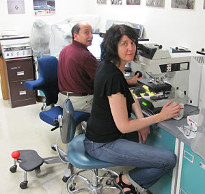 Microscopy lab at Aston Metalurgical, Wheeling, IL.