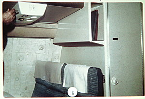 Fig. 1 Back row of flight 305, Cooper sat in the middle seat. Photo courtesy of the FBI